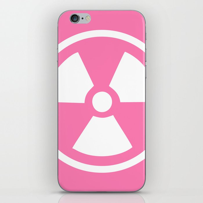 Pink Radioactive Symbol iPhone Skin