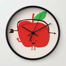 The Apple and The Arrow Wall Clock