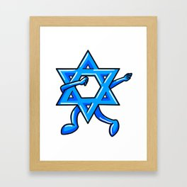 Dabbing Star Of David Jewish Funny Hanukkah Holiday Framed Art Print