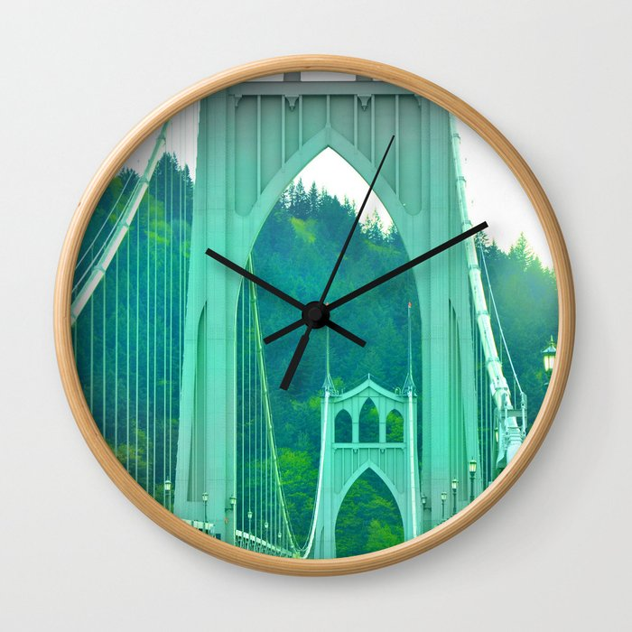St. Johns Bridge Portland Oregon Wall Clock