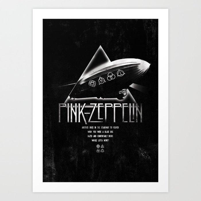 Pink Zeppelin Kunstdrucke