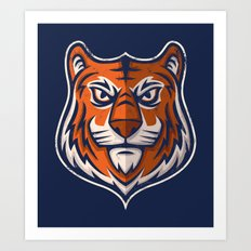 Tiger Shield Art Print