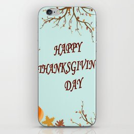 Happy Thanksgiving day postcard iPhone Skin