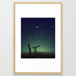 Under the same sky Framed Art Print