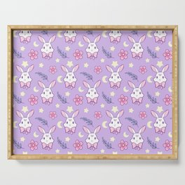 Sakura Bunny // Purple Serving Tray