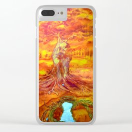 Follow your dreams and your dreams become you Clear iPhone Case