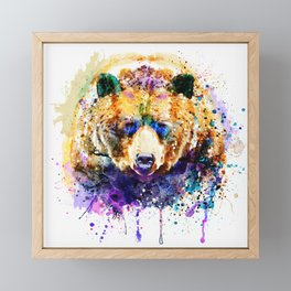 Colorful Grizzly Bear Framed Mini Art Print