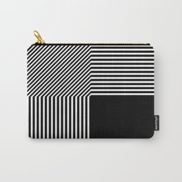Geometric abstraction, black and white Carry-All Pouch