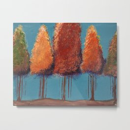 Glory in Autumn Trees Impressionism Painting Metal Print