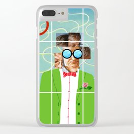 Hockney illustration Clear iPhone Case