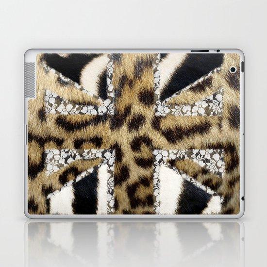 Wild | Hipster leopard Print Zebra UK Union Jack Flag  Laptop & iPad Skin