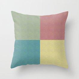 Foursquares Color Forms Throw Pillow