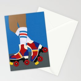 70s Roller Skate Girl Stationery Cards