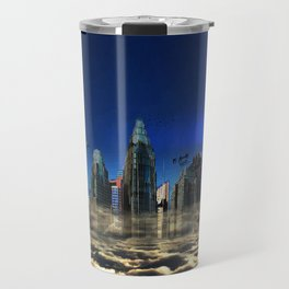 City In The Clouds (dark) Travel Mug