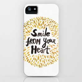 Smile From Your Heart iPhone Case