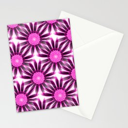 wonderful floral pattern in pink and purple Stationery Cards
