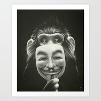arctic monkeys Art Prints featuring Anonymous by Dr. Lukas Brezak
