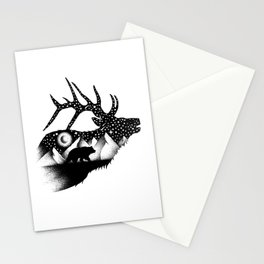 THE ELK AND THE BEAR Stationery Cards