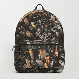 new york city aerial view Backpack