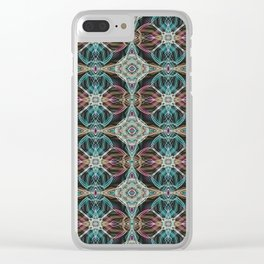 Art Deco 43 .Multicolored abstract pattern . Clear iPhone Case