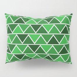 Modern Abstract Art Pattern Green Triangles Simple & Artistic Pillow Sham