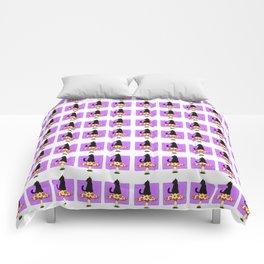 Mushroom Kitty Comforters