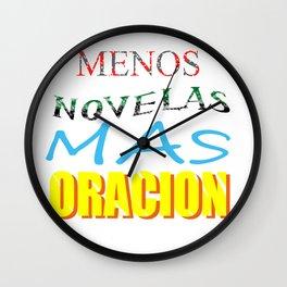 Menos Novela Mas Oracion Wall Clock