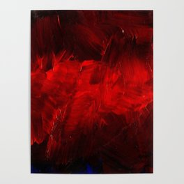 Red And Black Abstract Gothic Glam Chic Poster