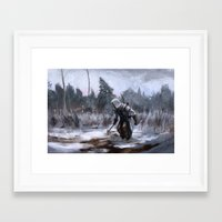 assassins creed Framed Art Prints featuring Assassins Creed - Connor by Juhani Jokinen