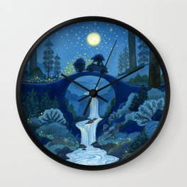 Driving Through the Glittering Night Wall Clock