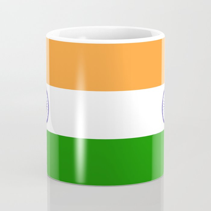 national flag of india authentic version to scale and color coffee