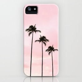 Palm Tree Photography Peach | Blush Pink | Millennial Pink | Miami iPhone Case