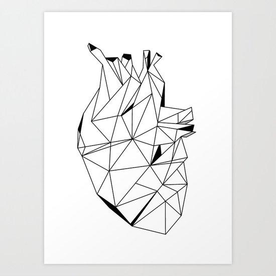 Stone Heart Art Print