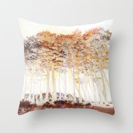 Abstract Monterey Cypress In Infrared with Tint Overlay Throw Pillow