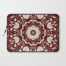 Red Floral Batik Laptop Sleeve