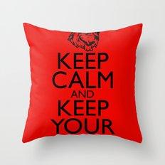 Keep Calm and Keep your Arms Throw Pillow