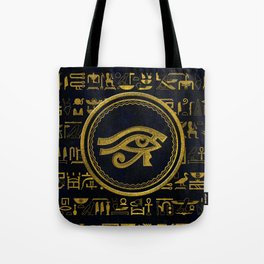 Gold Egyptian Eye of Horus - Wadjet Tote Bag