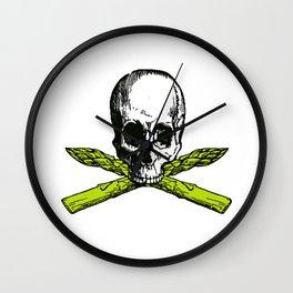 skull asparagus Wall Clock