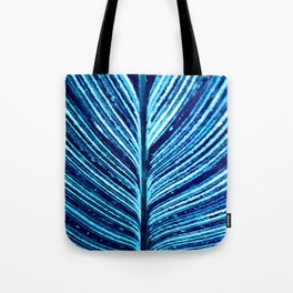 Feather Leaf in Blue Tote Bag