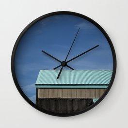 Blue Roof Wall Clock