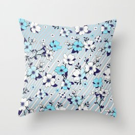 Lovable Flowers 16 Throw Pillow