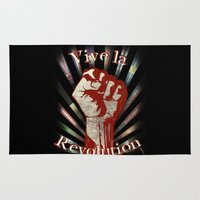 revolution Area & Throw Rugs featuring Revolution by PsychoBudgie