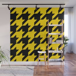 Gold Hounds Tooth Wall Mural