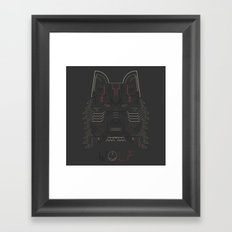 Wolf line illustration Framed Art Print
