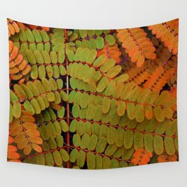 Tiny Leaves Abstract Wall Tapestry