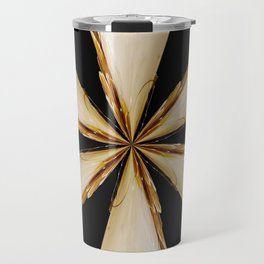 Black, White and Gold Star Travel Mug
