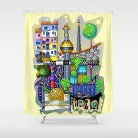 vienna Shower Curtains featuring Vienna  by Aleksandra Jevtovic