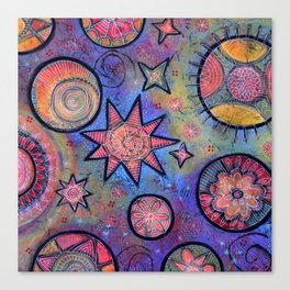 Celestial Stars - Sending Love and Healing Light  Canvas Print