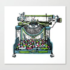 Fantastic Typewriter Canvas Print