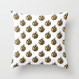 Bee Polka Dot Throw Pillow
